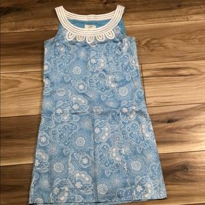 Ann Taylor loft floral blue dress